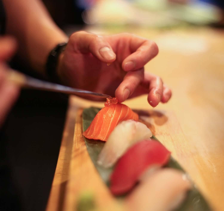 kokoni suhi sashimi